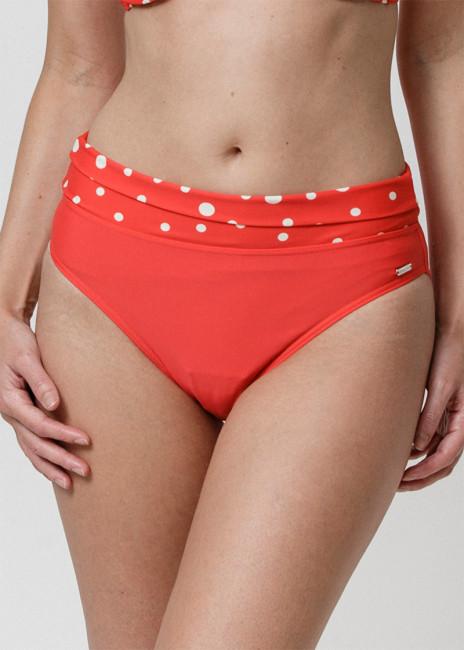 Abecita Pompom bikinitrosa med vikbar kant 36-48 Röd