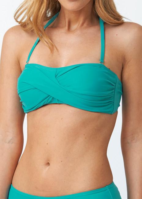 Abecita Alanya bandeau bikiniöverdel A/B-C/D kupa grön