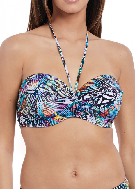 Freya Swim Hot In Havana Bandeau Bikiniöverdel B-I kupa mönstrad