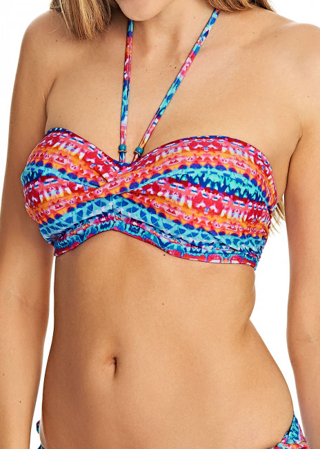 Freya Swim Cuban Crush Bandeau Bikiniöverdel B-I kupa mönstrad