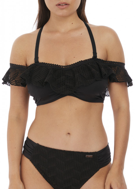 Fantasie Swim Marseille bikiniöverdel bardot D-I-kupa svart