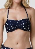 Abecita Pompom Bandeau Bikiniöverdel A/B-C/D Navy