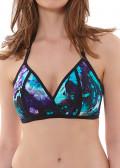 Freya Swim Atlantis trekants bikinitopp C-G kupa blå