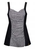 Damella baddräkt med kjol 38-48 svart & vit