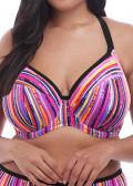 Elomi Swim Nomad bikiniöverdel plunge E-L kupa mönstrad