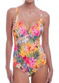 Fantasie Swim Anguilla baddräkt D-I kupa mönstrad gul