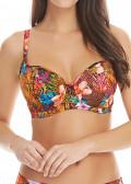 Freya Swim Safari Beach bikiniöverdel D-L kupa mönstrad