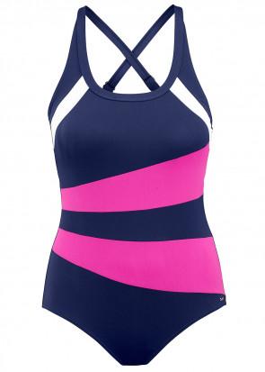 Abecita Speed Baddräkt 36-50 marinblå/rosa