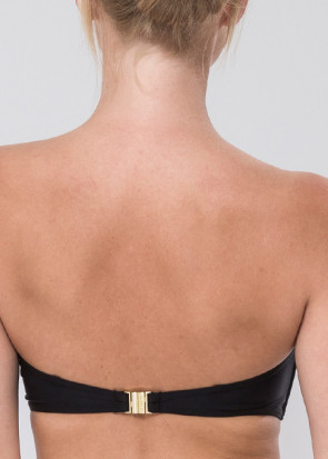 Abecita Alanya vadderad bygel bandeau bikinitop B-D kupa svart