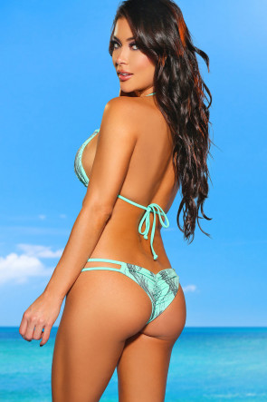 Tahiti Reversible Mint Scrunch