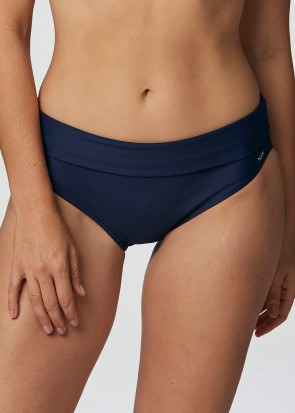 Abecita Capri bikiniunderdel med vikbar kant 36-50 marinblå