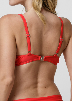 Abecita Alanya plunge bikiniöverdel B-E kupa röd