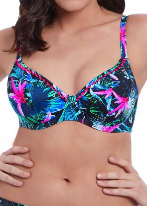 Freya Swim Jungle Flower Plunge Bikiniöverdel D-L kupa mönstrad