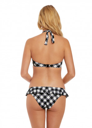 Freya Swim Totally Check halterneck bikiniöverdel C-K kupa mönstrad