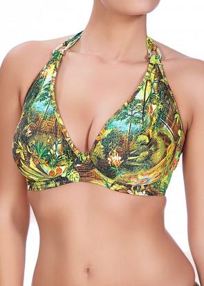 Freya Swim Wilderness halterneck bikinitopp D-I kupa mönstrad
