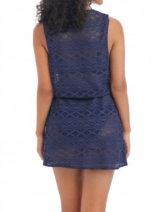 Freya Swim Sundance strandklänning S-L blå