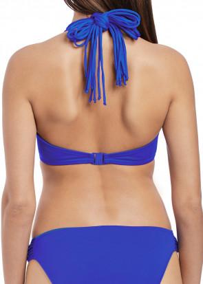 Freya Swim Macrame Halterneck Bikiniöverdel D-I kupa blå