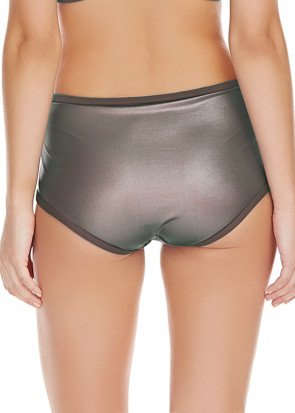 Freya Swim Mercury Brieftrosa Hög midja XS-XL gun metal