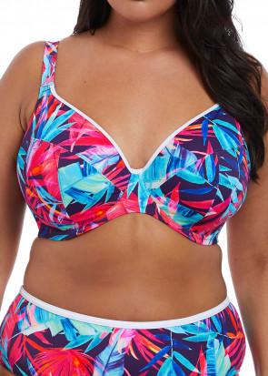 Elomi Swim Paradise Palm bikiniöverdel plunge E-L kupa multi
