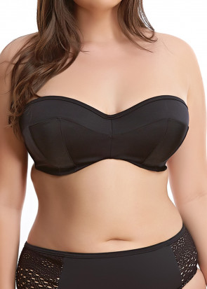 Elomi Swim Essentials Bandeu Bikiniöverdel E-L kupa svart
