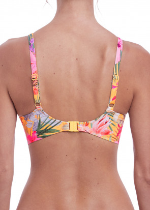 Fantasie Swim Anguilla bikiniöverdel fullkupa D-J kupa mönstrad gul