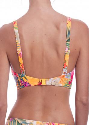 Fantasie Swim Anguilla bikiniöverdel plunge D-M kupa mönstrad gul