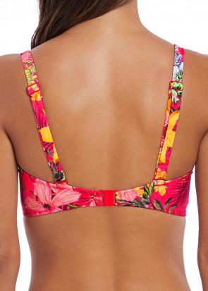 Fantasie Swim Anguilla bikiniöverdel plunge D-L kupa mönstrad röd