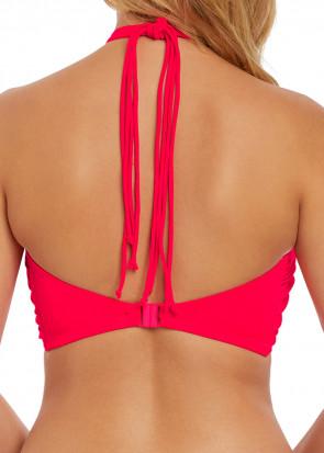 Freya Swim Macrame bikiniöverdel bandeau B-I kupa röd