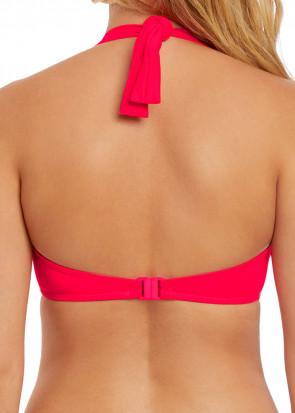Freya Swim Macrame bikiniöverdel halterneck D-I kupa röd