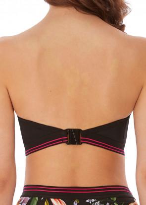 Freya Swim Club Envy vadderad bandeau bikiniöverdel D-I kupa mönstrad
