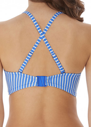Freya Swim Beach Hut bikiniöverdel bandeau D-I-kupa blå