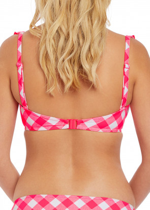 Freya Swim Totally Check High Apex bikiniöverdel D-M kupa röd
