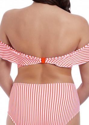 Freya Swim Totally Stripe bikiniöverdel bardot C-I kupa mönstrad