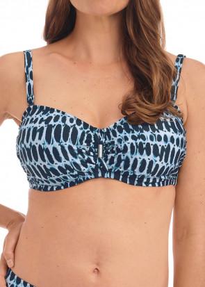 Fantasie Swim Kotu bikiniöverdel bandeau D-I kupa mönstrad