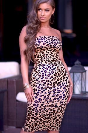 Sara Strapless Bodycon Dress