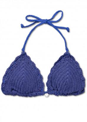 Panos Emporio Crochet Galathea bikiniöverdel A-D kupa blå