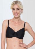 Abecita Alanya bikinitop med bygel B-F kupa svart