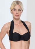 Abecita Alanya halterneck bikinitop B-E kupa svart