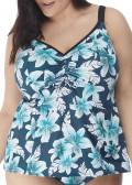 Elomi Swim Island Lily tankini 42-52 mönstrad