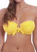 Freya Swim Beach Hut bikiniöverdel bandeau D-I kupa gul
