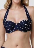 Abecita Pompom Bandero Halterneck Bikiniöverdel B-E kupa Navy