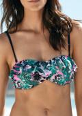 Salming Tropic Garden bandeau bikiniöverdel A-D kupa mönstrad