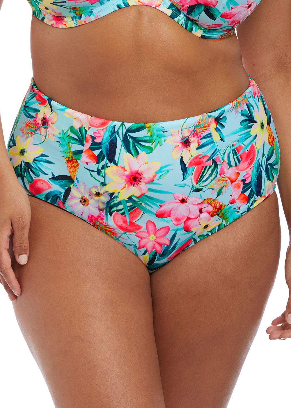 06df7521 Elomi Swim Aloha bikiniunderdel brief 42-52 multi - Beachwear.se