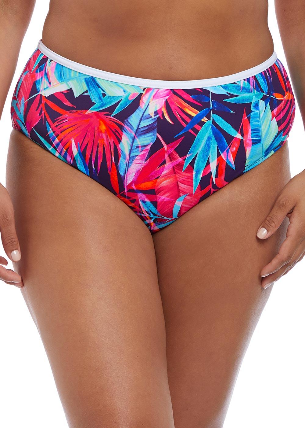 bc10daac Elomi Swim Paradise Palm bikiniunderdel brief 42-52 multi - Beachwear.se