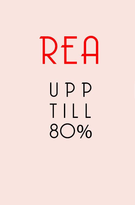 Rea upp till 80%